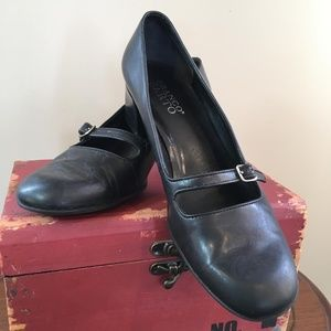 Franco Sarto Mary Jane Chunky Heel Shoes Size 7.5